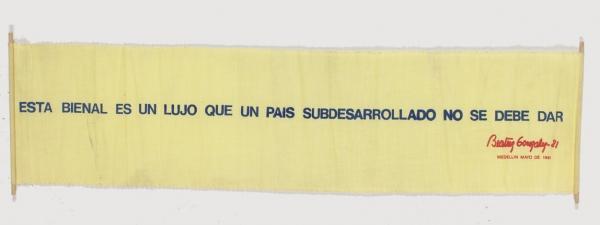 """Beatriz González """"Esta bienal es un lujo que un país subdesarrollado no se debe dar"""", 1981"""