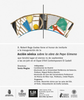 Acción sónica sobre la obra de Pepe Gimeno