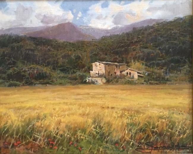 """Elías Garralda, """"Nota de Sadernes"""" (22x27) – Cortesía de la galería Michel Menendez"""