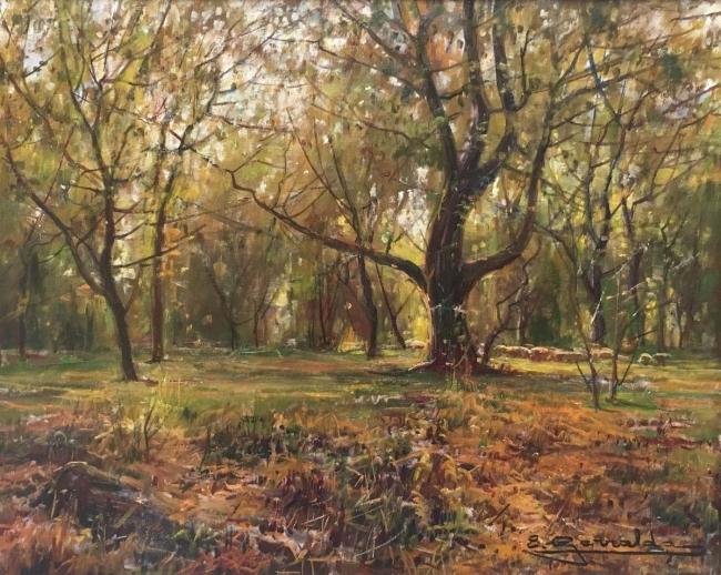 """Elías Garralda, """"Septiembre en Sola"""" (33x41) – Cortesía de la galería Michel Menendez"""