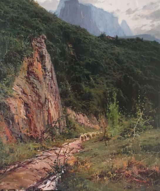 """Elías Garralda, """"Collado de Bracons"""" (46x38) – Cortesía de la galería Michel Menendez"""