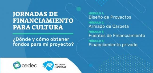 Jornadas de financiamiento para cultura. Imagen cortesía Recursos Culturales-Formación