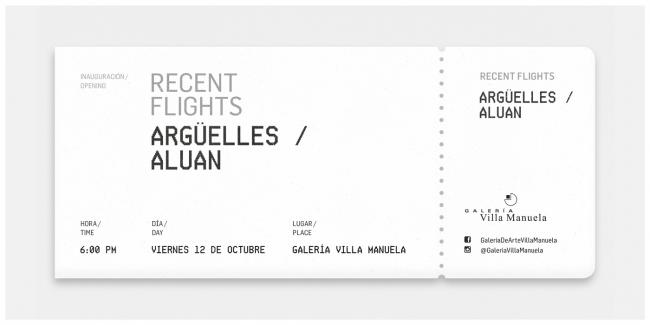 Recent Flights. Imagen cortesía Galería Villa Manuela