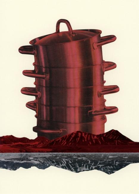 Esther Morcillo, collage – Cortesía de AJG Contemporary Art Gallery