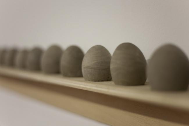 Esther Morcillo, Huevos – Cortesía de AJG Contemporary Art Gallery