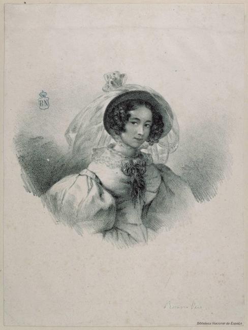 Rosario Weiss, Autorretrato – Cortesía de la Biblioteca Nacional de España