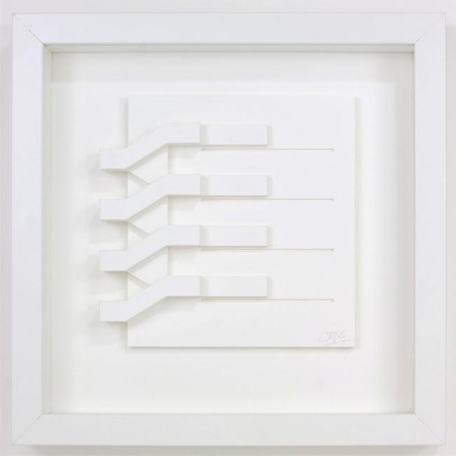 Luis Pérez Vega_Escalera 06 | Ir al evento: 'Luis Pérez Vega: Papel blanco II'. Exposición de Pintura en Angel Cantero, Galería de Arte / León, España