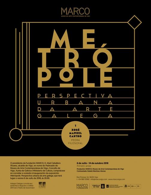 Metrópole. Perspectiva urbana da arte galega - Xosé Manuel Castro. Pedra filosofal
