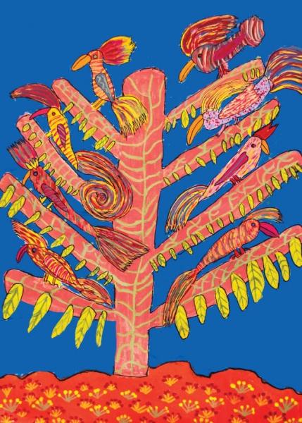 Juan Carlos Bernardino, El árbol de la Vida (ganador del Premio de Ilustración Plena Inclusión Madrid - Loewe)