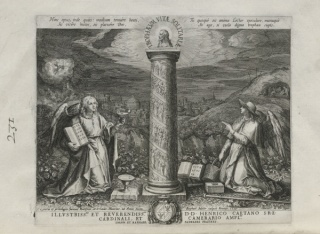 Maarten de Vos, Trophaeum Vitae Solitariae (Hombres ermitaños), 1598. Grabado. Crédito fotográfico: Yale University Art Gallery
