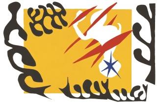 Le cauchemar de l'Eléphant blanc | O pesadelo do elefante branco | The nightmare white Elephant Pochoir s/papel | Stencil on paper 42 x 65,5 cm © Succession H. Matisse / AUTVIS, Brasil, 2016. Imagen cortesía Mateus Almeida de Vasconcelos