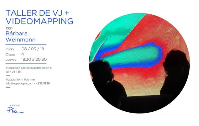 TALLER VJ + VIDEOMAPPING. Imagen cortesía Espacio Pla