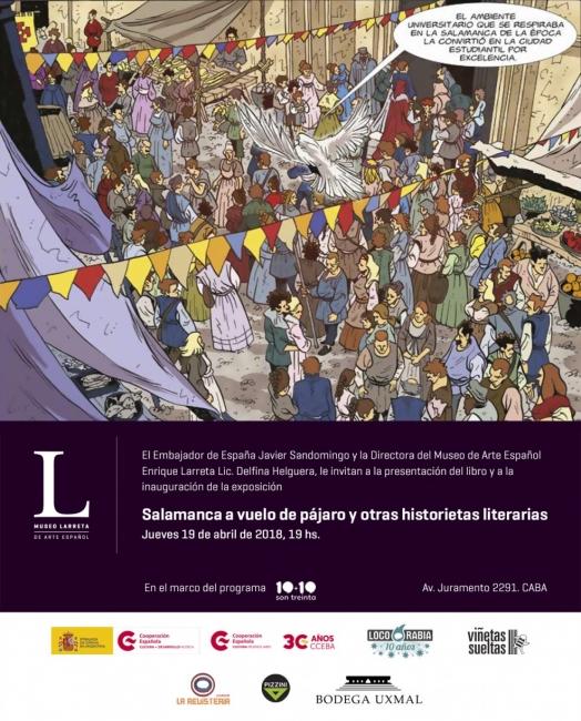 SALAMANCA A VUELO DE PÁJARO. Imagen cortesía Museo Larreta