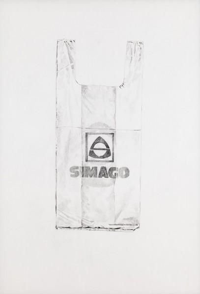 Avelino Sala, Simago (año de cierre 1997), 2014. Lápiz sobre papel, 950 x 750 mm. Fotografía de Kike Llamas