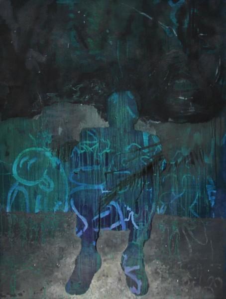 José Carlos Naranjo, Sweet Home. 130 x 97 cm. Óleo sobre lino. 2014 | Ir al evento: 'Orden y desorden'. Exposición de Pintura en Birimbao / Sevilla, España