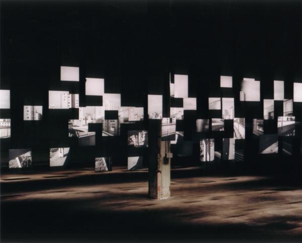 Cássio Vasconcellos, Uma vista (A View), 2002. Matte black and white lambda print. Variable dimensions. Museu de Arte Moderna de São Paulo Collection, Gift of Ursula Erika Marianna Baumgart. Photo: Cássio Vasconcellos