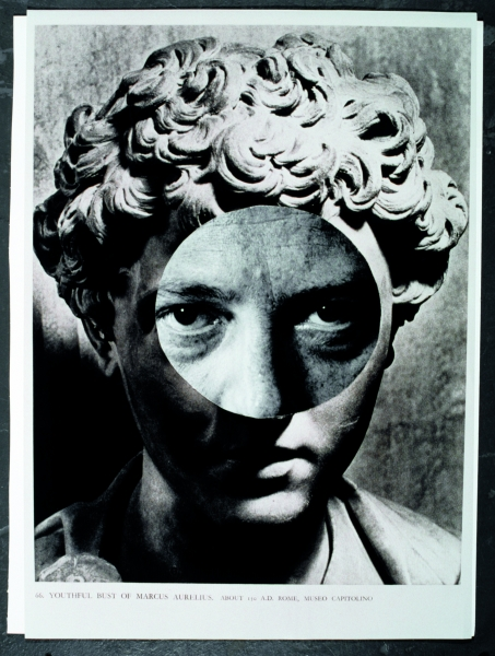 Odires Mlászho, Marcus Aurelius (da série: Cavo um fossil replete de anzóis) (Marcus Aurelius [From the Series I Dig Up a Fossil Full of Hooks]), 1996. Color photograph. Museu de Arte Moderna de São Paulo Collection, Gift of José Mindlin. Photo: Romulo Fi