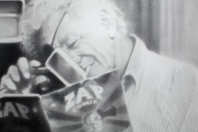 Detalle de la obra ¿Qué es la imagen? Un abrir y cerrar de ojos – Cortesía del Museo ABC | Ir al evento: 'Conexiones 14. Chema López. La ilusión y el miedo'. Exposición de Artes gráficas en Fundación Colección ABC - Museo ABC de Dibujo e Ilustración / Madrid, España