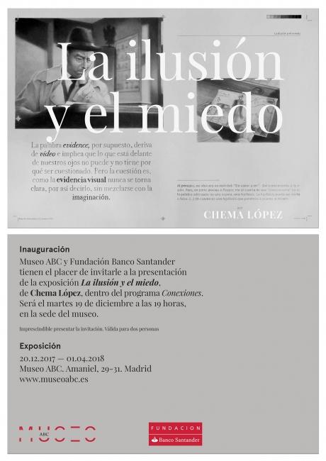 Chema López. La ilusión y el miedo | Ir al evento: 'Conexiones 14. Chema López. La ilusión y el miedo'. Exposición de Artes gráficas en Fundación Colección ABC - Museo ABC de Dibujo e Ilustración / Madrid, España