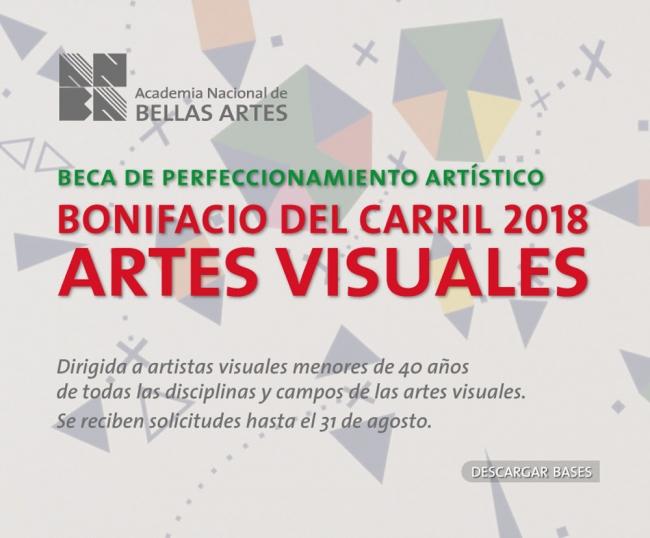 Beca Bonifacio del Carril de perfeccionamiento artístico 2018. Imagen cortesía ANBA