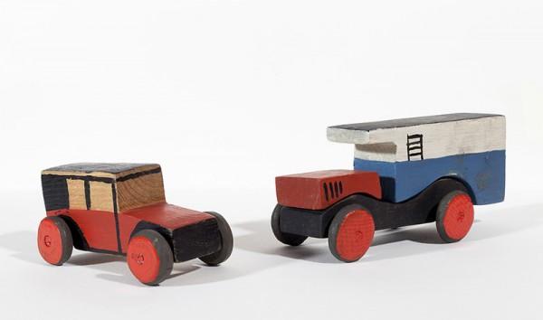 Coche rojo y Camión lechero, 1917-19