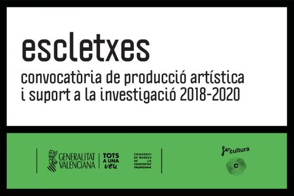 Escletxes. Convocatoria de apoyo a la investigación y producción artística 2018-2020