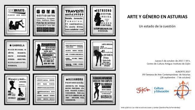 Arte y género 1 | Ir al evento: 'Arte y género en Asturias'. Conferencia de Escultura, Fotografía, Pintura, Video arte en Centro de Cultura Antiguo Instituto de Gijón (CCAI) / Gijón, Asturias, España