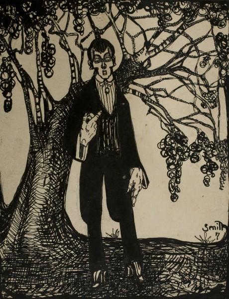 Ismael Smith, Hombre y árbol, 1907. Museu Nacional d\'Art de Catalunya