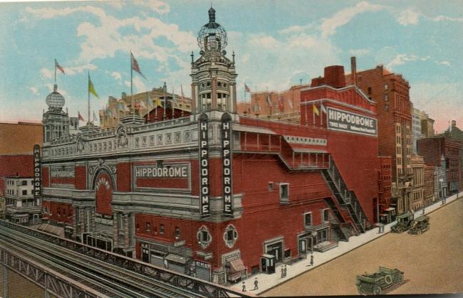 Postal del Hippodrome de Nueva York – Cortesía de la Diputación de Huesca