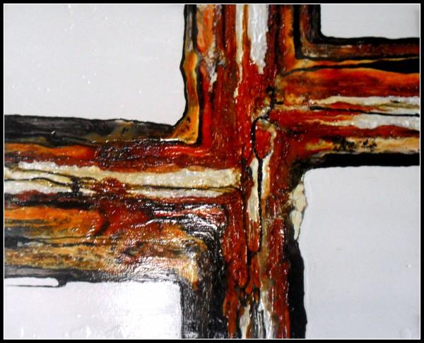 Aaron Zapata Rasch | Ir al evento: 'Viaje II. Al interior de los elementos. Equilibrio en el espacio'. Exposición de Escultura, Pintura en Salón Miro - Antonio MIró / Barcelona, España