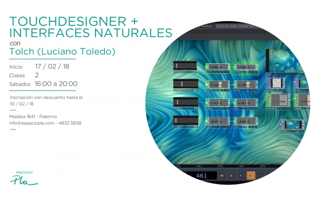 Workshop de Touchdesigner + Interfaces naturales