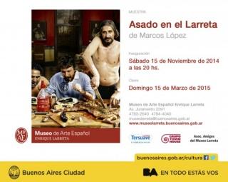 Marcos López, Asado en el Larreta