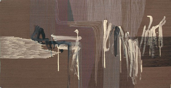 Ernesto Garcia Sanchez // Untitled Nr. 3, 2016, 25 x 49 inches, Acrylic and graphite on wood