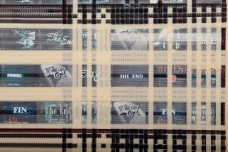 Txuspo Poyo Detalle de la obra The endless/ Detail from the piece The Endless, 1994 Celuloide de 16 mm y fotos de The ends 16 mm celluloid and The End photographs 240 x 110 cm.