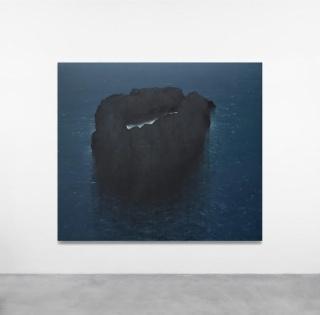 Hugo Fontela, Norte4, 2017, técnica mixta sobre lienzo, 195x220 cm.