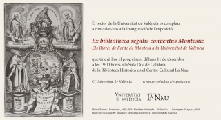 Ex Bibliotheca Regalis Conventus Montesiæ. Els llibres de l'ordre de Montesa a la Universitat de València