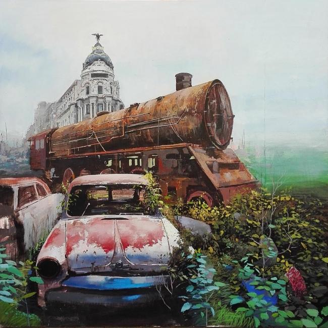 Manuel Castillero. Ozymandias 2, óleo sobre tela – Cortesía de Galería Contrast