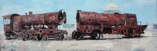 Manuel Castillero. Ultima itur, óleo sobre tela – Cortesía de la Galería Contrast