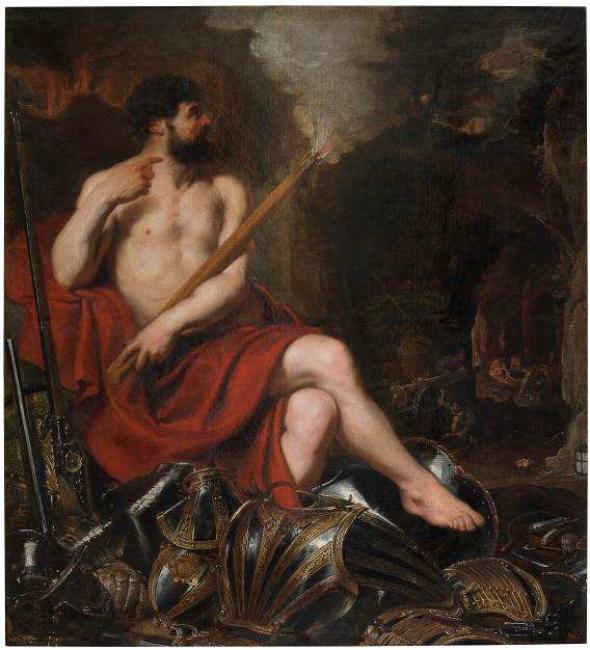 Pedro Pablo Rubens, Vulcano y el fuego, siglo XVII. Óleo sobre lienzo. © Museo Nacional del Prado — Cortesía de Donostia Kultura