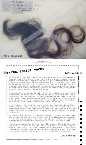 Imaxes, xestos, voces | Ir al evento: 'Imaxes, xestos, voces'. Exposición en