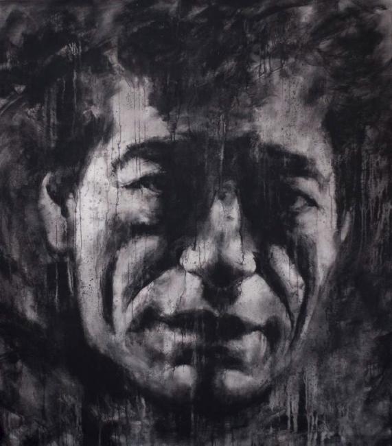 Alvaro Sellés, GIACOMETTI. 2015. Acrilico sobre lienzo, 220x180 cm.
