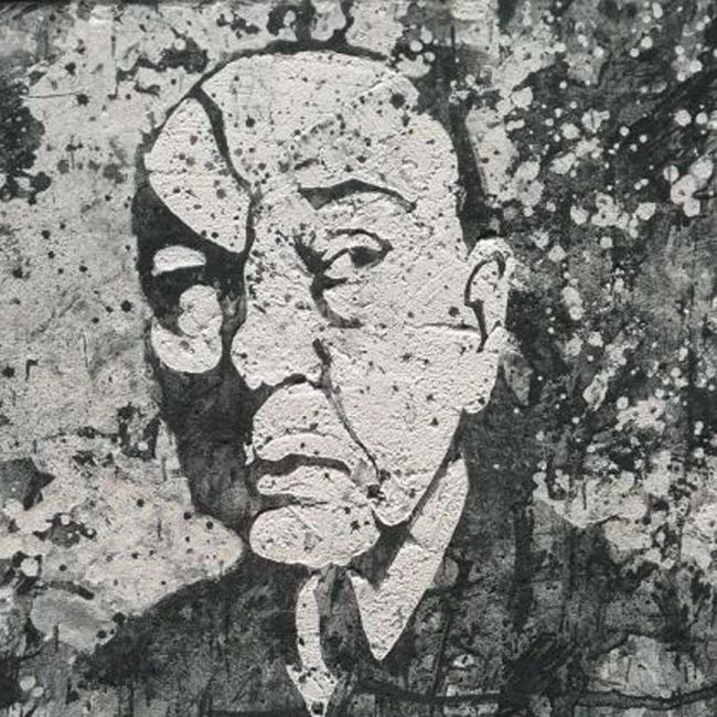 Alvaro Sellés, PALAZUELO. Técnica mixta sobre lienzo. 27x27 cm.