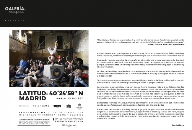 Cartel Exposición Pablo Lecroisey