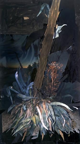 Miguel Angel Tornero, sin título, collage sobre cartón, 2017