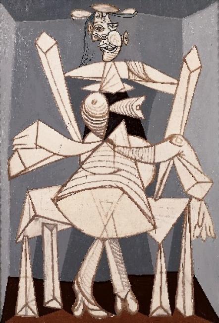 Pablo Picasso (1881-1973). Femme assise dans un fauteuil (Dora) (1938). Óleo sobre lienzo.188,5x129,5cm.
