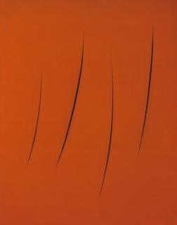 Lucio Fontana, Concetto spaziale attese 1+1-111XY, 1962 © Col·lecció les Abattoirs-Frac Midi-Pyrénées © Lucio Fontana, Milano / by SIAE / Adagp, Paris; Fotografia: René Sultra
