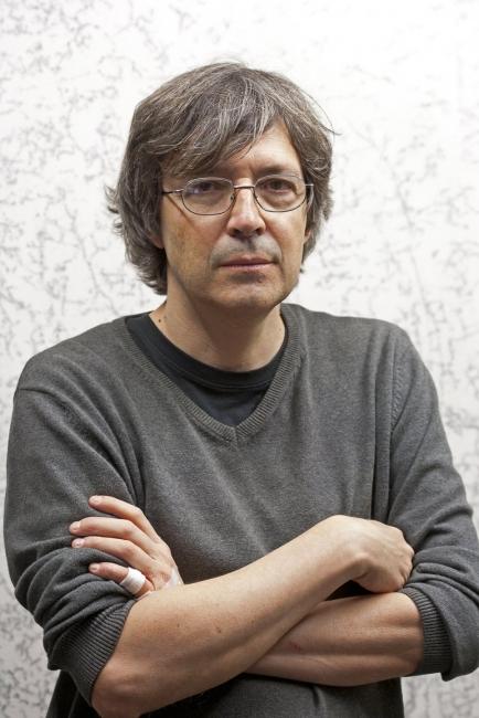 Sergio Sanz, Estudio, 2017. Fotografía: M.Blanco – Cortesía de la Galería Marlborough | Ir al evento: 'Lugares'. Exposición de Pintura en Marlborough / Madrid, España