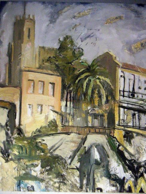 Francis Daubresse. Guadalupe. Técnica mixta sobre tela, 81 x 100 cm. – Cortesía de la Galería Ra del Rey