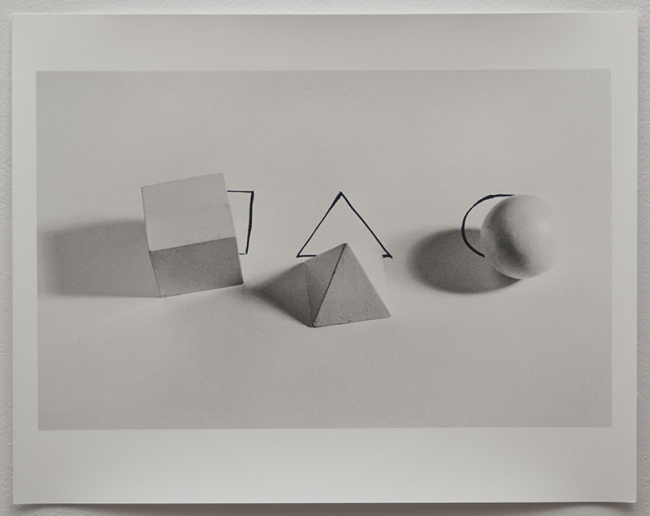 "Liliana Porter, ""Geometric Shapes With Drawings"", 1973/2012. Imagen cortesía Luciana Brito Galeria"