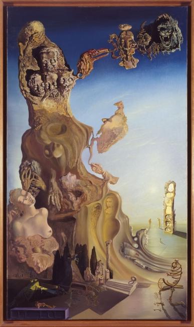 Salvador Dalí. La memoria de la mujer-niña. Monumento imperial a la mujer-niña, 1929. Museo Nacional Centro de Arte Reina Sofía, Madrid. Legado Dalí. © Salvador Dalí, Fundació Gala- Salvador Dalí, VEGAP, Barcelona, 2018 — Cortesía del MNAC